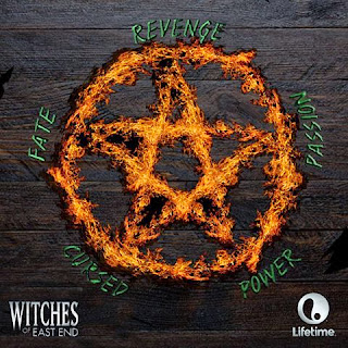 Burning pentacle for Witches of East End