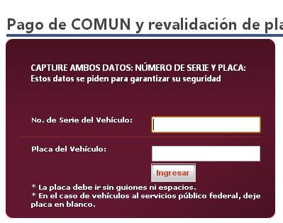 Sonora pago de placas por internet 2014 2015 | Repuve: consulta gratis ...