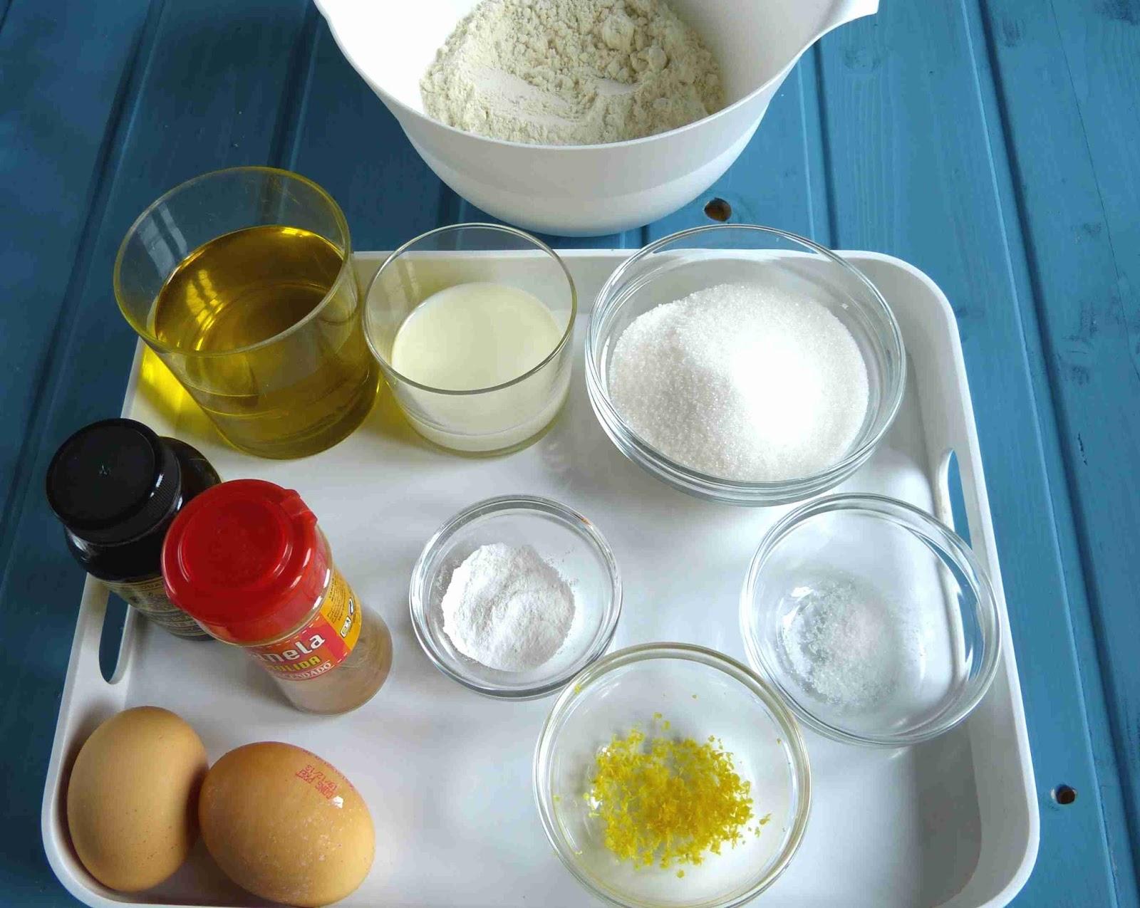 Ingredientes magdalenas de xavier barriga