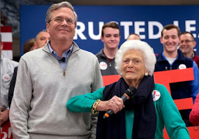 DROWNING JEB SENDS SOS TO 90 YEAR MOM?