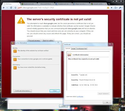erreur de certificat - navigation bloquée