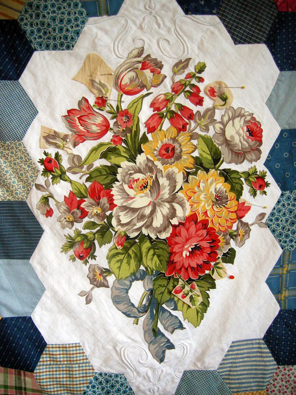 Allie's in Stitches: Broderie Perse Meets Crazy Quilt ...