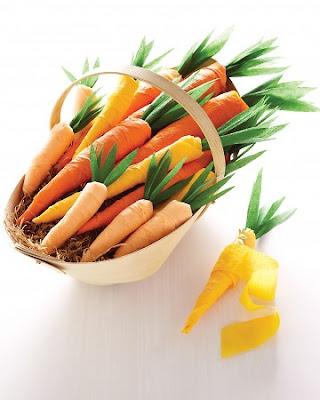 decorar con zanahorias
