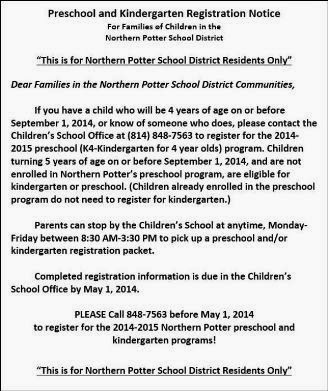 Registration For NOPO Pre-K & K