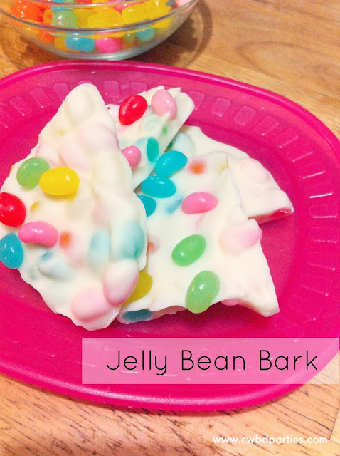 jelly bean bark, Easter Recipes, Easter Candy