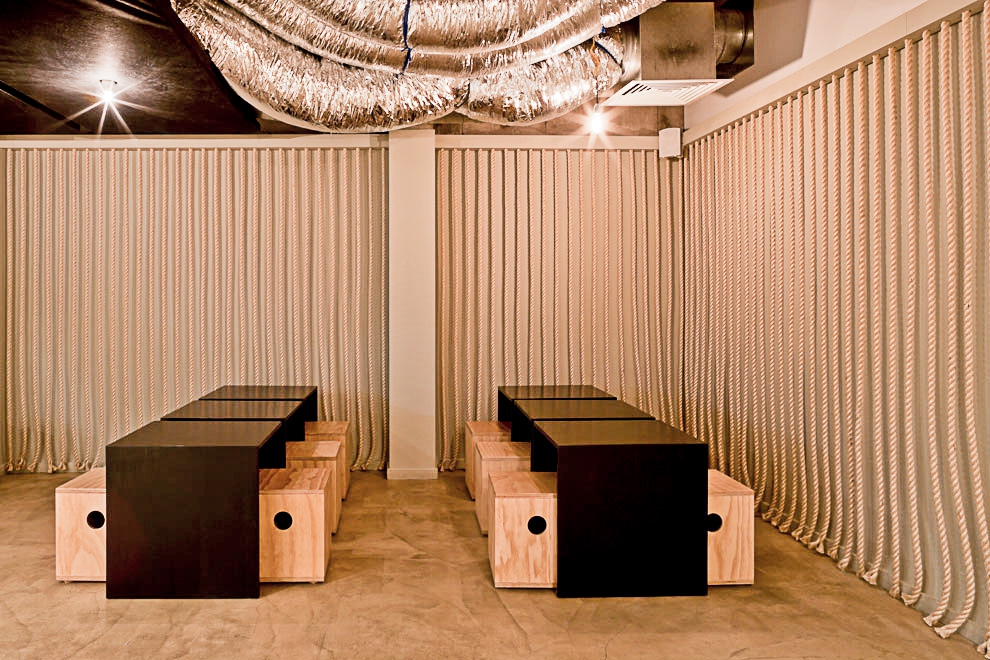 A 150m2 Japanese Canteen Fit Out Located On The Basement Level Of University Melbourne Union Building It Consists 2 Plywood Boxes Which Are