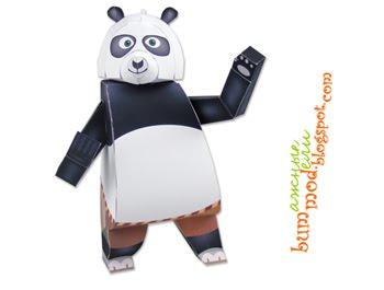 бумажная модель Панда-По из мультика