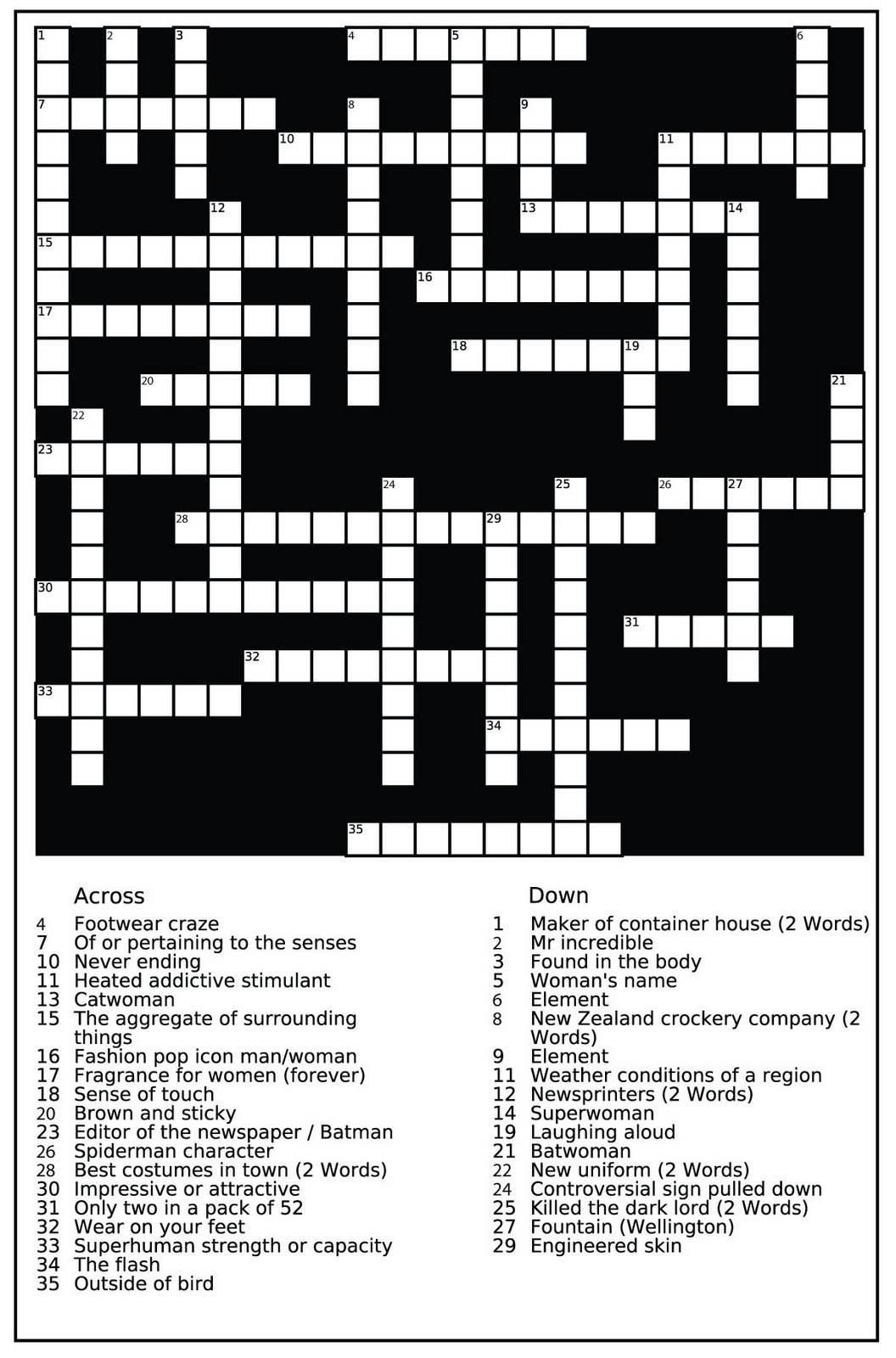 Capital Chronicle Advertisement Amp Crossword For Newspaper
