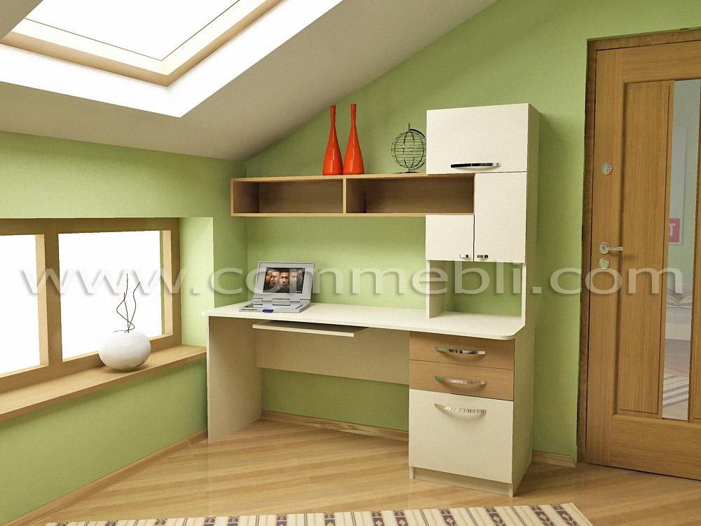Стіл для навчання з надбудовою ліжко