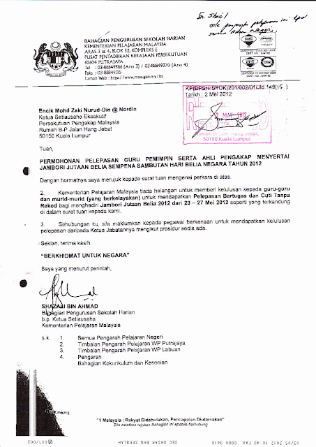 Adult In Scouting Surat Kpm Pelepasan Pemimpin Pengakap Ke Jambori B1m