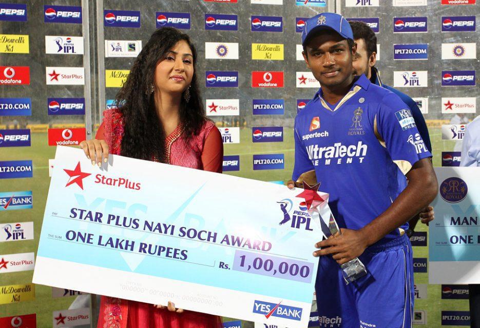 Sanju-Samson-Star-plus-nayi-soch-award-RR-vs-PWI-IPL-2013