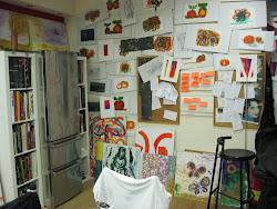 La vinateria, el taller, el huerto, los cuadros.