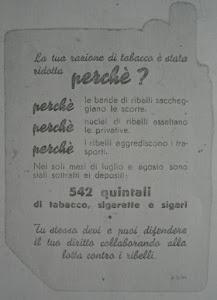 RETRO PACCHETTO DI SIGARETTE IN USO DURANTE LA R.S.I.