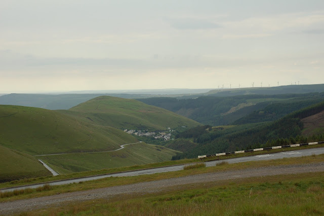 The Climb of The Blwch, with Cymer in the valley below