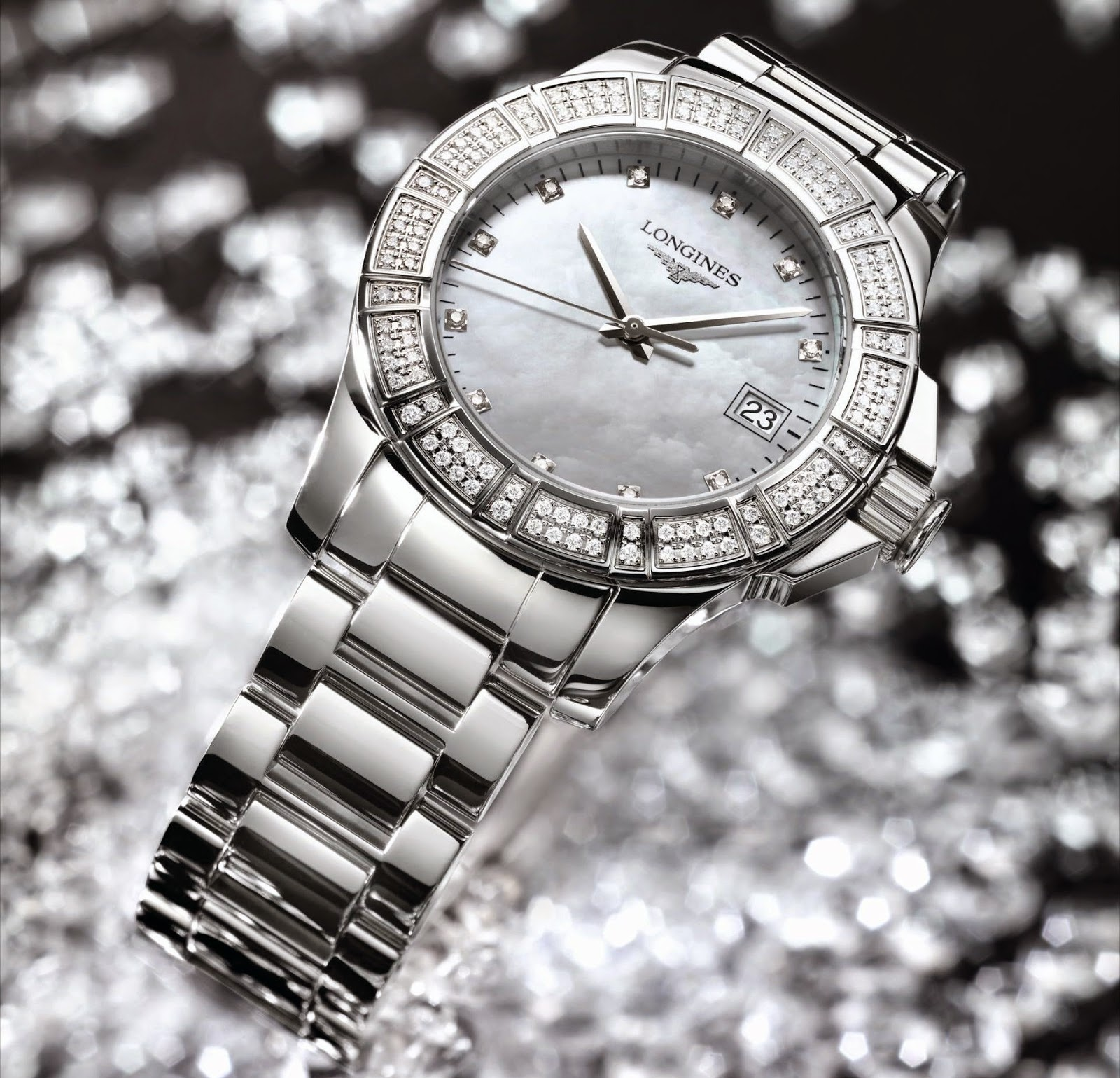 Longines Ladies Diamond Conquest replica