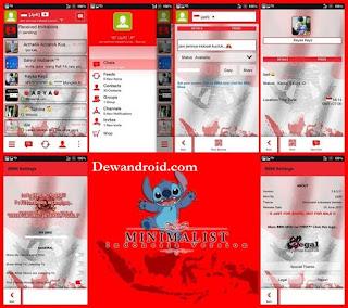 BBM Mod Themes Tampilan Indonesia Raya Based 2.8.0.21 + Full DP