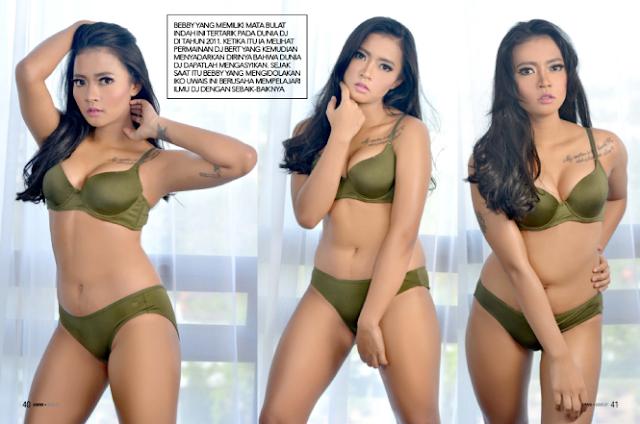 Hot Photo Bebby Keysa Green lingerie on Gress Magazine