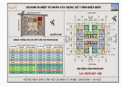 mat bang tang penhouse chung cu hh2b linh dam