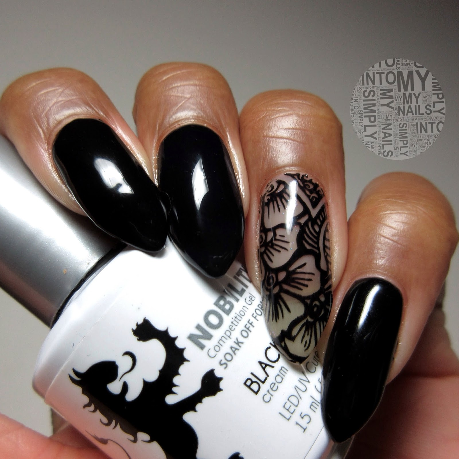 Back To Black....!   Simply Into My NAILS