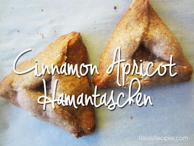 Raia's Recipes: Cinnamon Apricot Hamantaschen