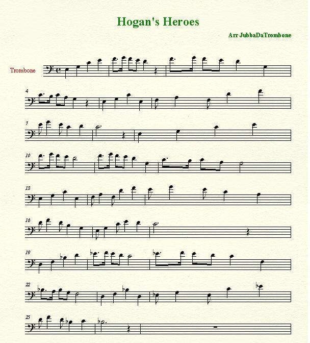 Nessun Dorma Lyrics Sheet Music: Jubba's Palace: Hogan's Heroes