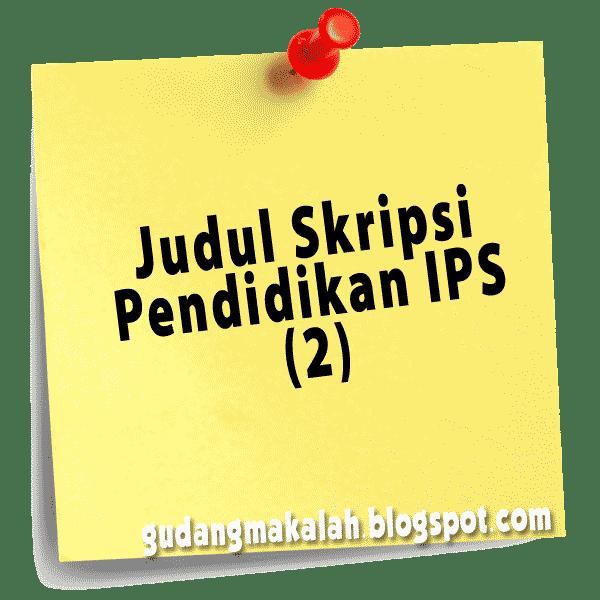 judul skripsi pendidikan ips-2
