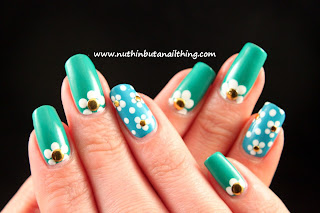 Sinful Colors Rise and Shine, Savage, flower nail art