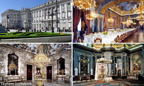 Istana Royal Palace di Madrid Spanyol