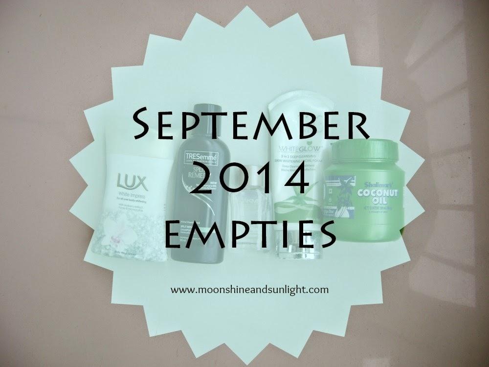 Semptember 2014 empties || My first empties post