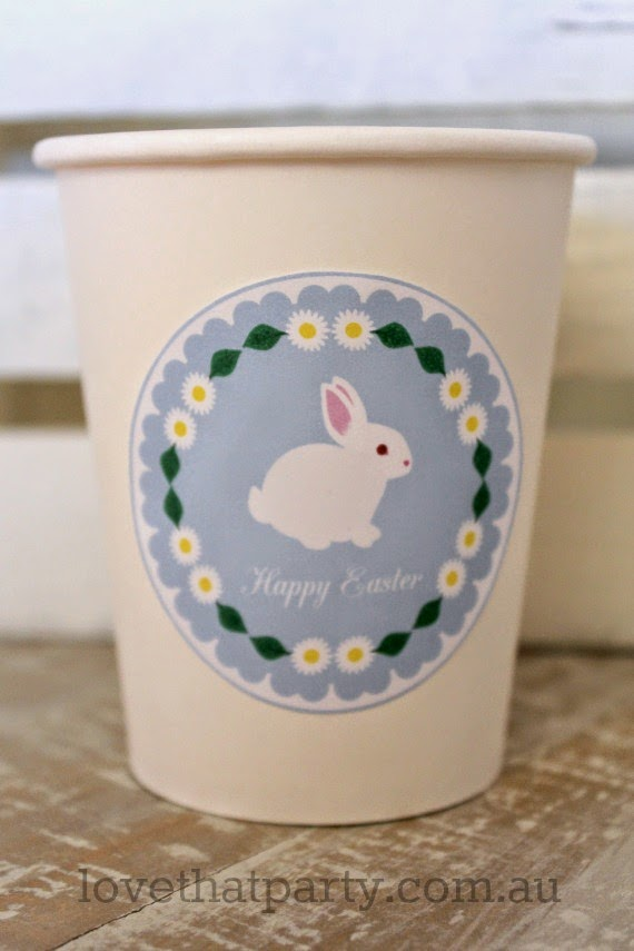 Free Printable Easter Bunny Party Circles by Love That Party. www.lovethatparty.com.au