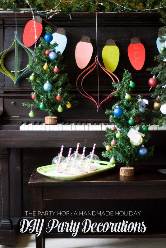 The Party Hop: A Handmade Holiday DIY party decorations