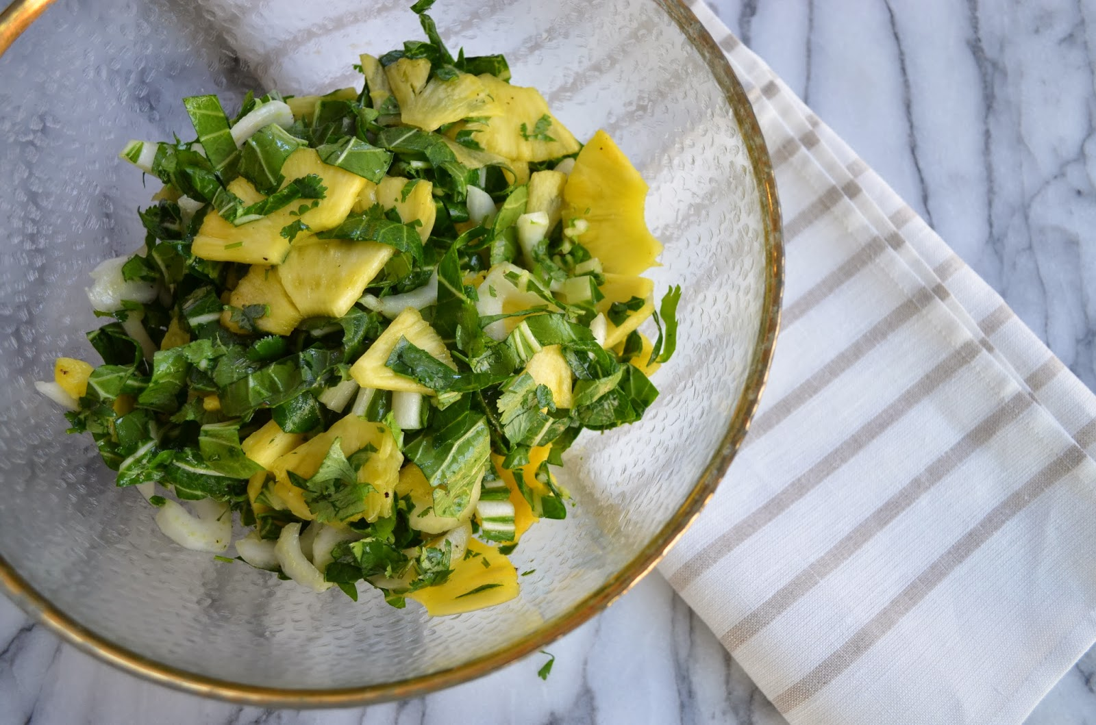 ... Bok Choy and Pineapple Salad - bok choy and pineapple salad - Smell of