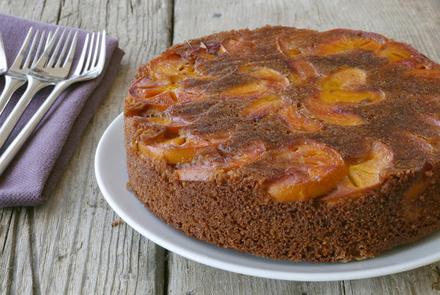 Spiced persimmon upside-down cake