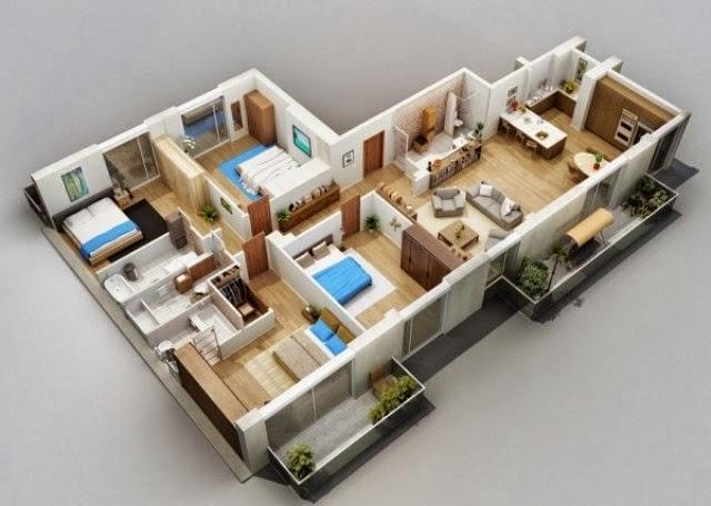 Rumah minimalis 3 kamar 5