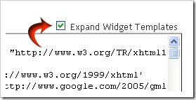 Expand Template Widget - info