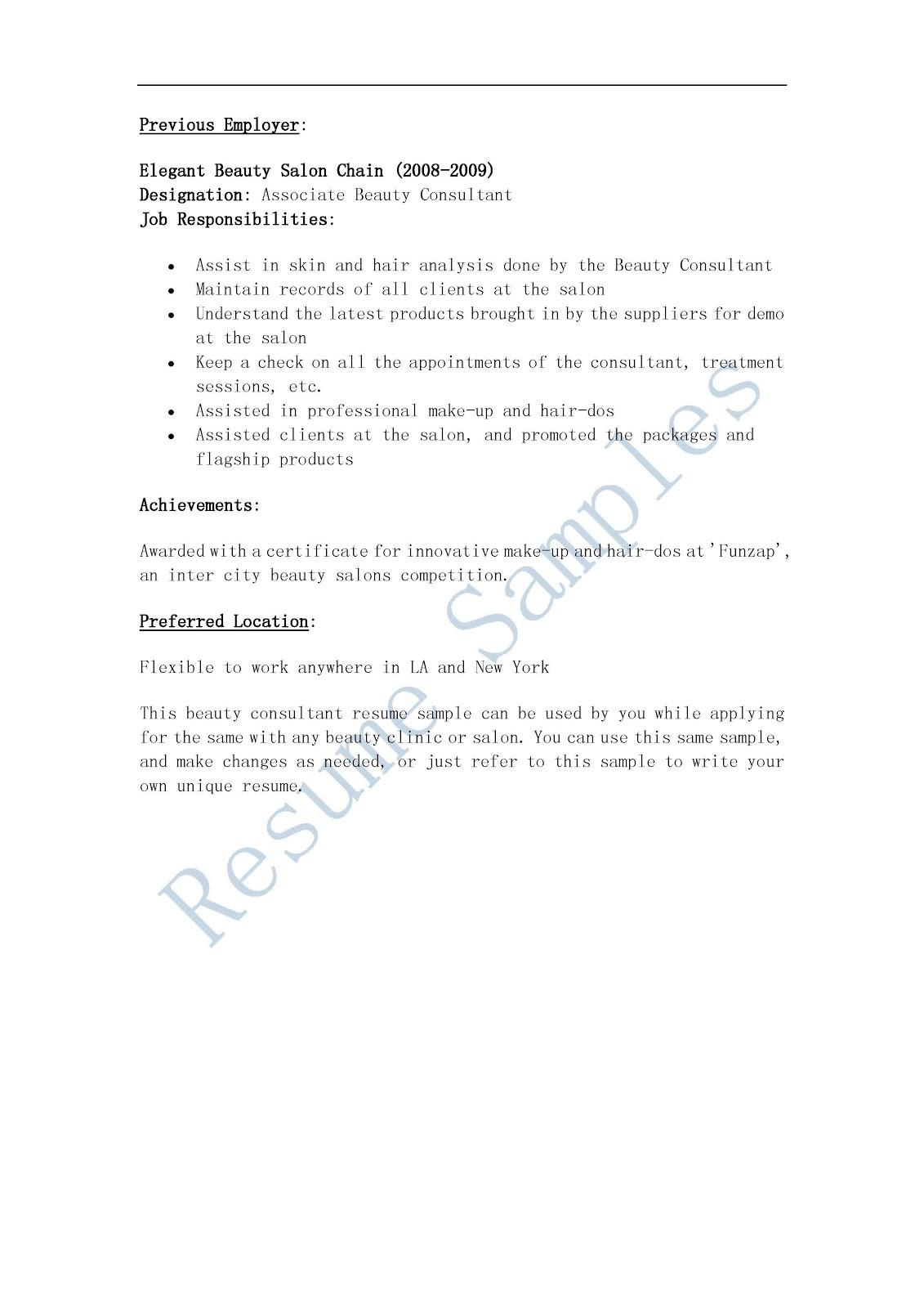 cosmetology resume templates - solarfm.tk