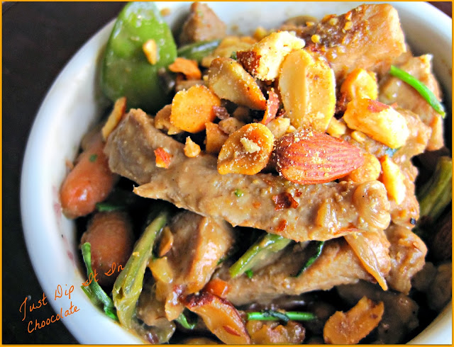 Combination Stir Fry with BBQ Peanut Sauce Recipe, better than take out and for a lot less, this stir fry is made with whatever you have left in your fridge and infused with exotic flavor thanks to the humble Peanut Butter!
