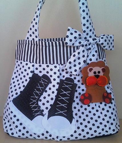 Bolsa De Tecido Com Renda : Patchwork retalhos em design bolsas de tecido