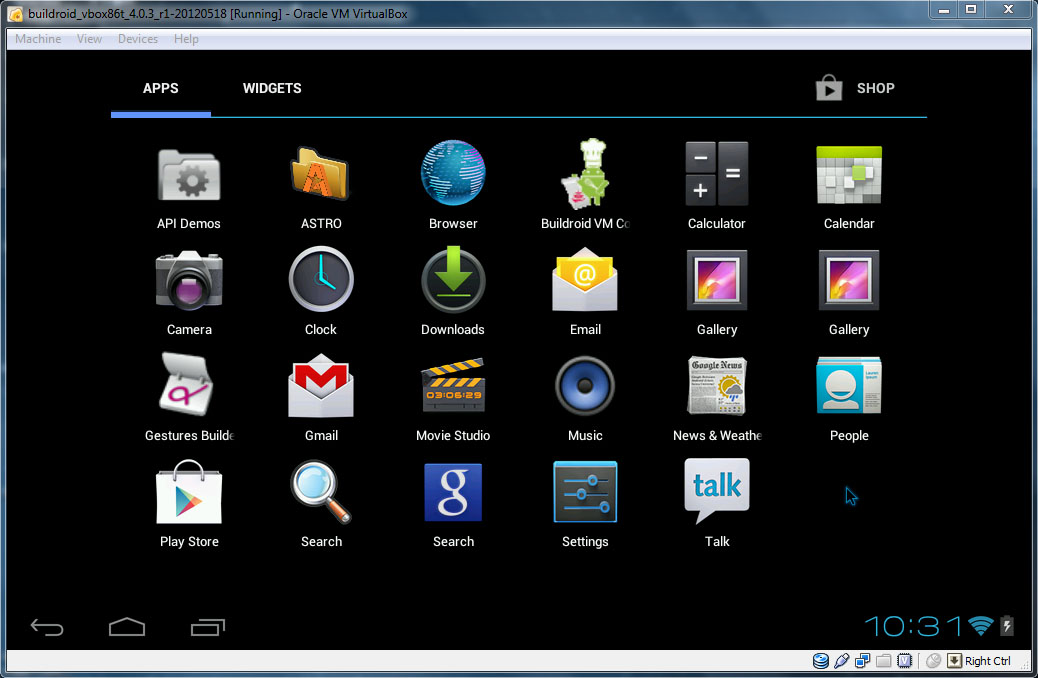 VirtualBox - Android-x86
