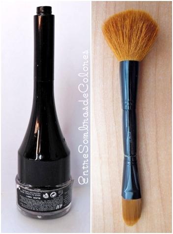 gel eyeliner y brocha H&M