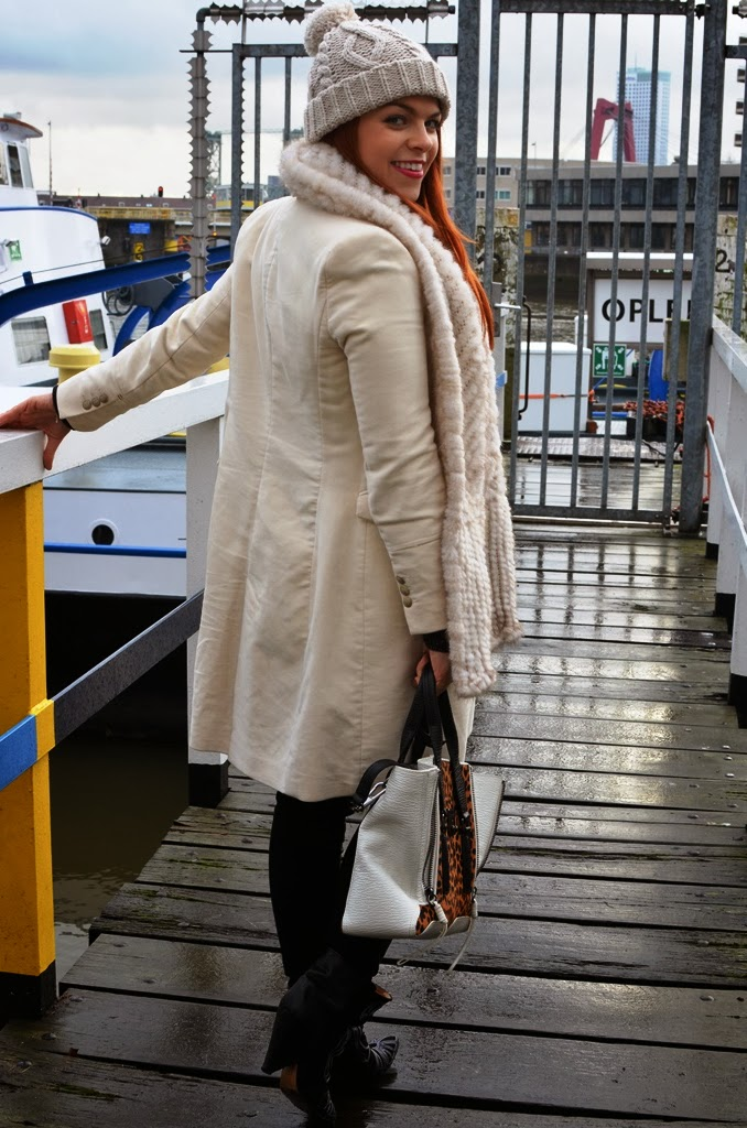 fashion-bridge.blogspot.com, fashion-bridge blog, street style, winter whites, Isabel Marant boots, Phillip Lim Pashli bag, white coats, red head, read hair, street style