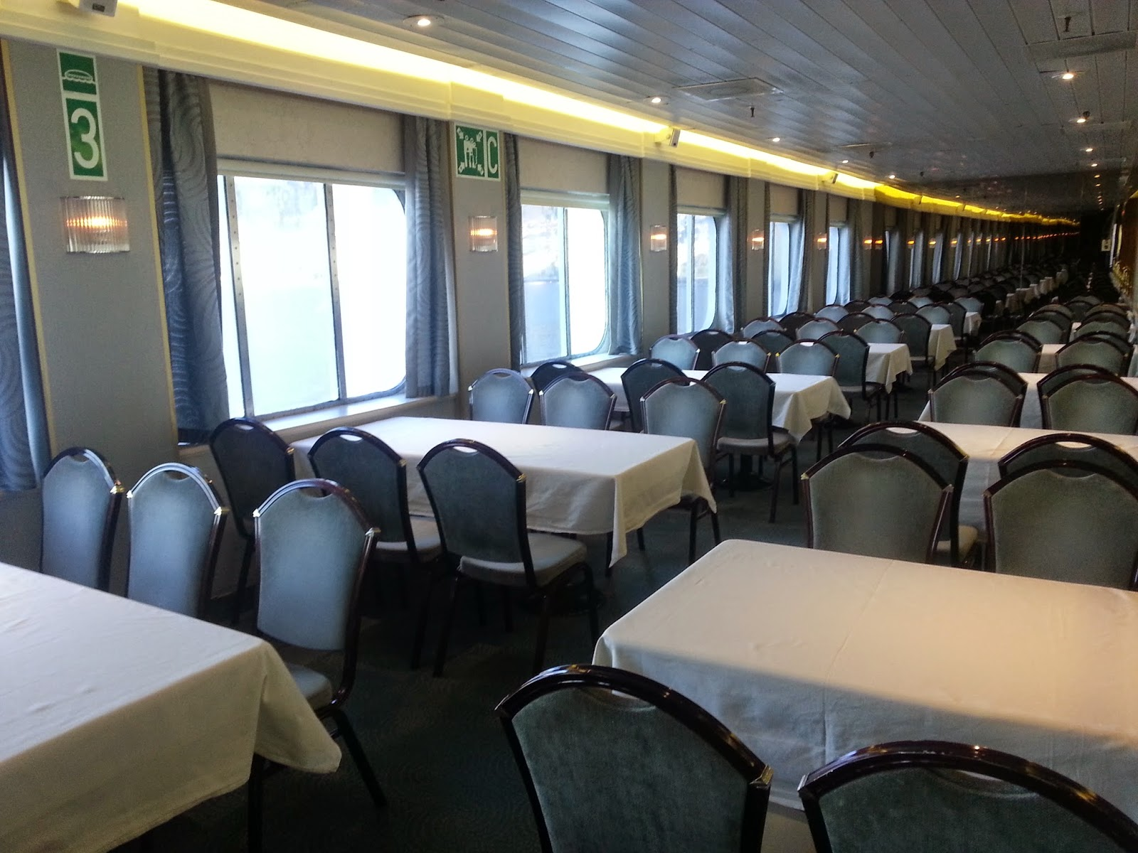 On Board Voyages of Discovery's Cruise Ship MV Voyager - Discovery Restaurant