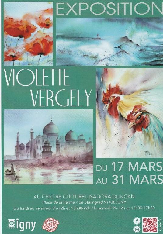 IGNY: l'aquarelliste Violette VERGELY expose: