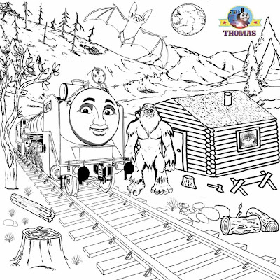 Thomas and Friends Hiro Coloring Page