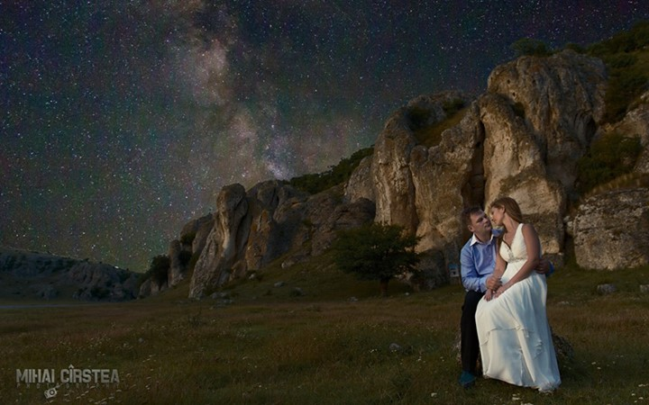 Milky Way Wedding Photo Session By Mihai Cirstea