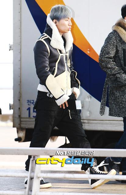 Big Bang Daesung airport fashion 121214 Rick Owens