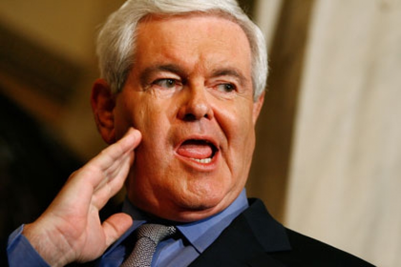 newt gingrich. Newt Gingrich, true to his