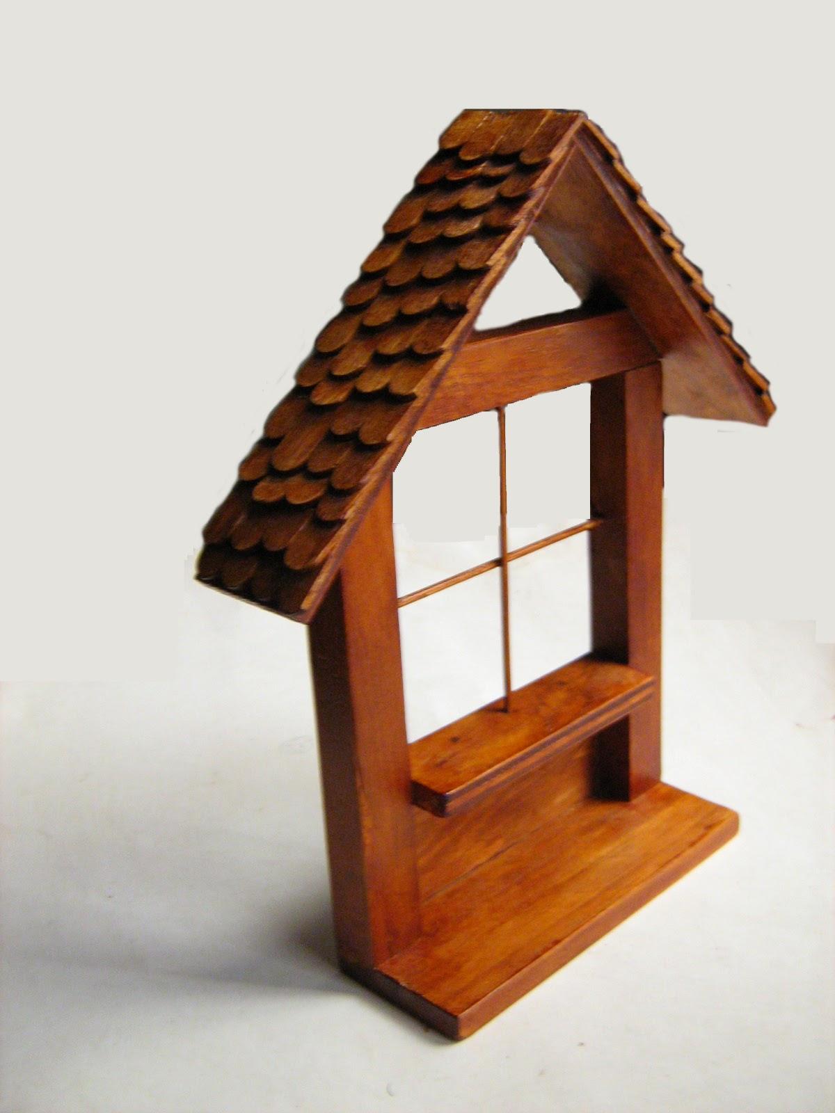 Productos de madera caribaea casita de madera adorno de - Escaleras de madera adorno ...