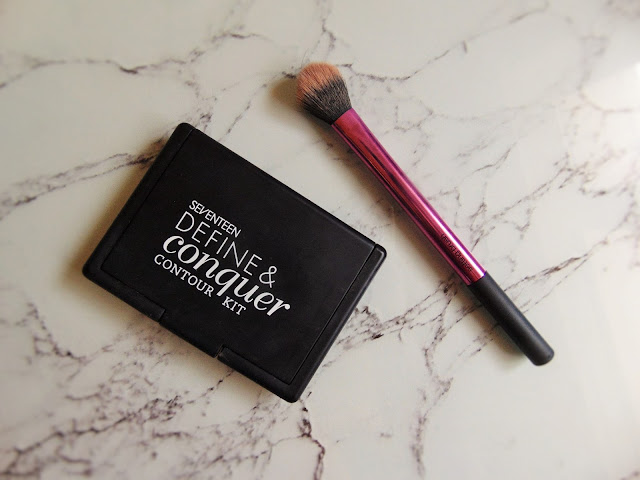 Seventeens hidden gem - define & conquer contour kit real techniques setting brush