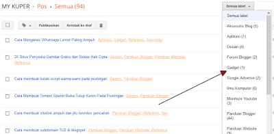 Cara menghapus dan membuat label pada Blogger